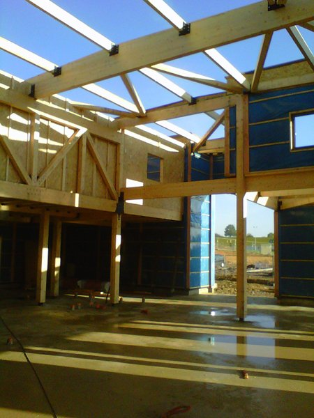 bâtiment charpente bois